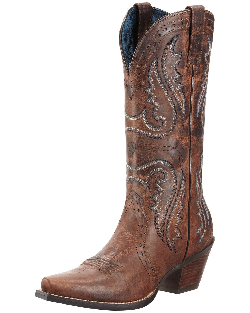 Ariat Women's Heritage Western X Toe Boot - Sassy Brown --- Um ...