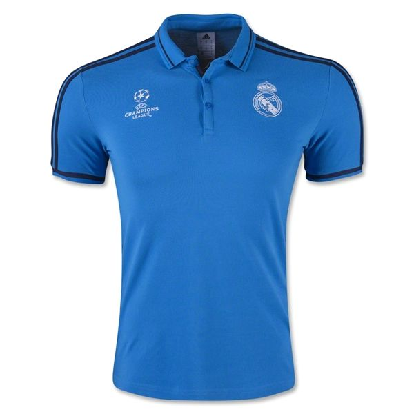 Real Madrid Football Shirt Cheap Blue Europa Replica Polo Shirt,all jerseys  are Thailand AAA+ quality,order will be shipped in days after  payment,guaranteed ...