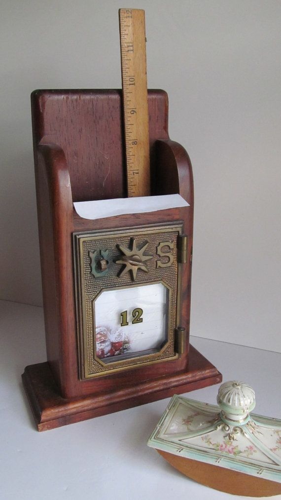 1901 antique post office mail box letter holder usa postal box us