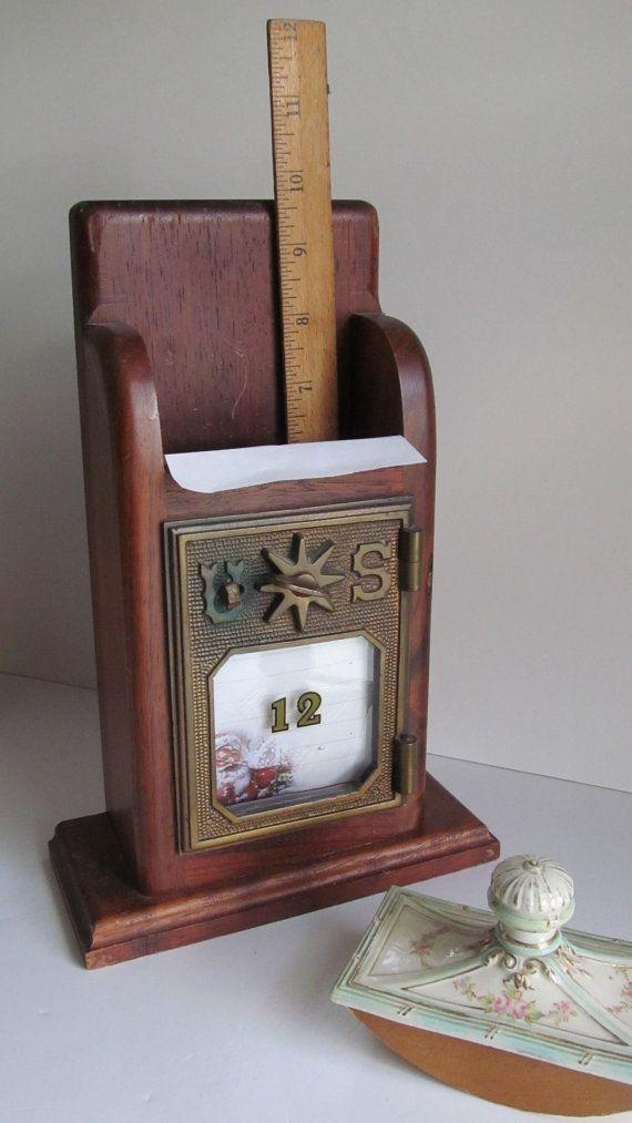 1901 Antique Post Office Mail Box Letter Holder Usa Postal