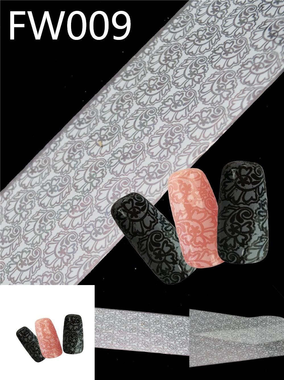[Visit to Buy] Shine Silver Laser Snow Nail Art Transfer Craft foil DIY Nail sticker Tips 5pcs/Lot #Advertisement