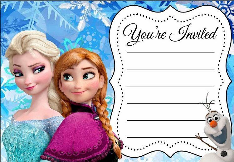 Frozen Birthday Invitations Editable