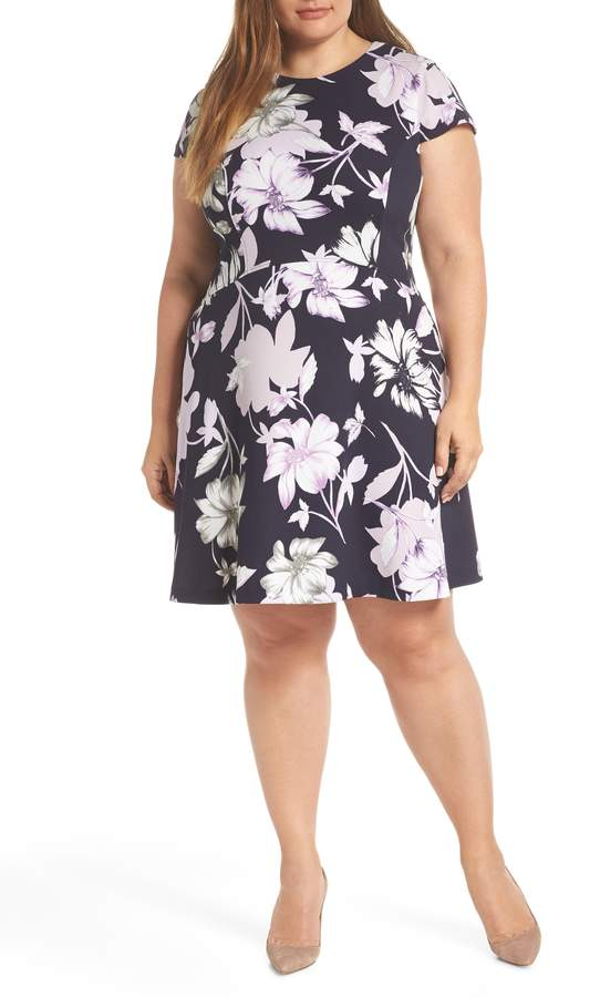 Vince Camuto Floral Scuba Dress | Products in 2019 | Scuba ...