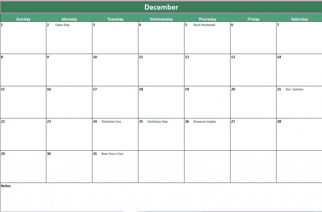 download free microsoft excel calendar template from
