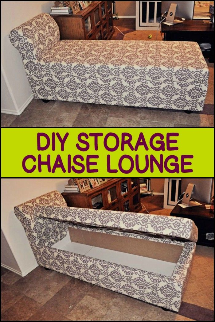 Diy Storage Chaise Lounge