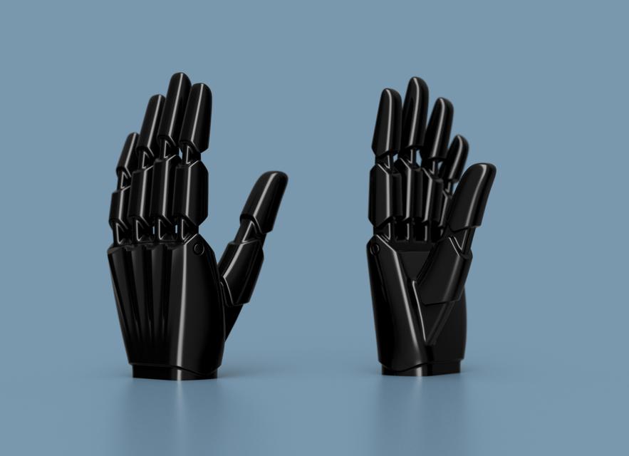321  Super Simple Robotic Hand || Free download 3D models