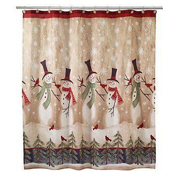 Tall Snowman Shower Curtain Shower Rods https://www.amazon.com/dp ...