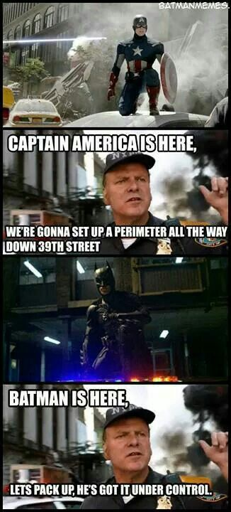 ea4ace500de Captain America vs. Batman even that guy knows who gets the job done ...