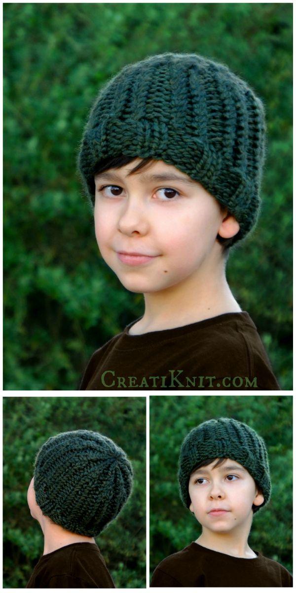 The Greenwood Boy Beanie Knitting Pattern Super Bulky Yarn Knit