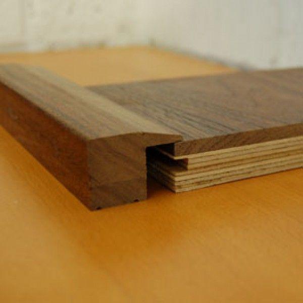 Amazing STN208 | Walnut Step Nosing For 21mm Thick Walnut Floors