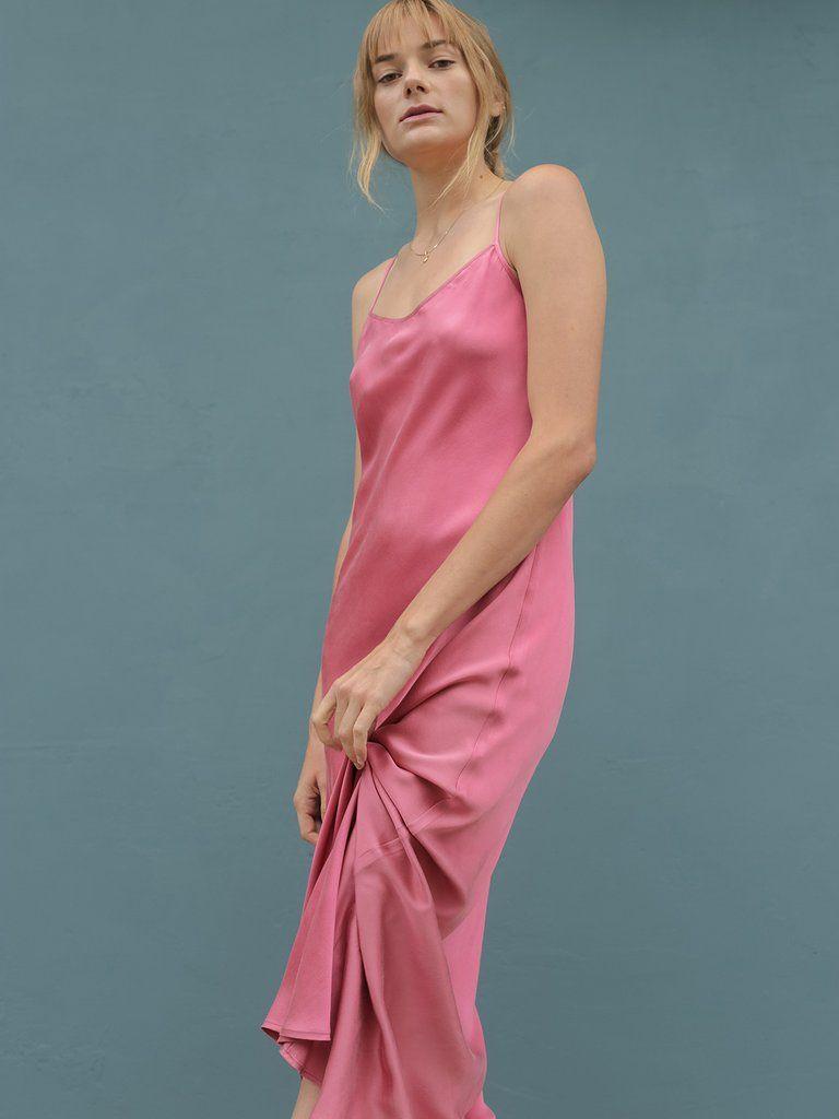 0c110695774 Gia Slip Dress - Blush Silk