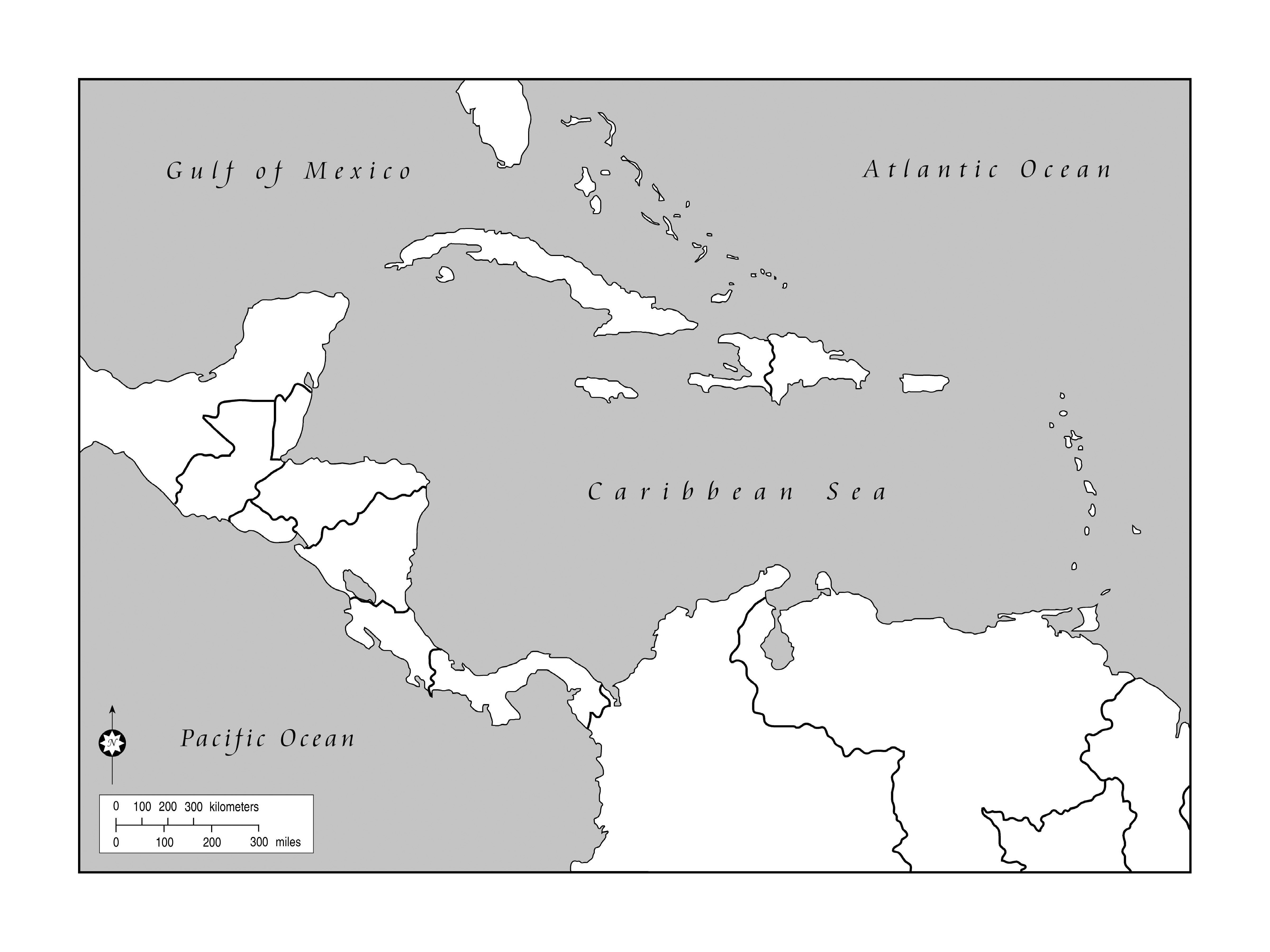 blank map of caribbean and central america Caribbean And Central America Outline Jpg 4800 3600 Blank blank map of caribbean and central america