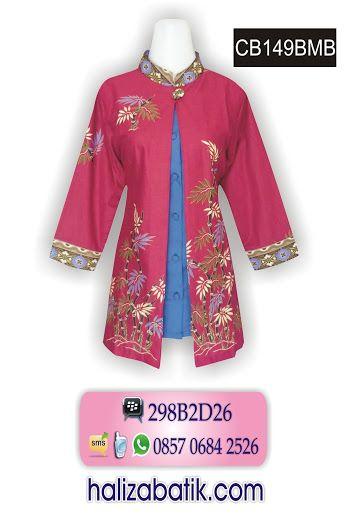 Baju batik pekalongan. Atasan batik wanita bahan katun primisima. Batik  modern wanita warna dasar 870cdbb8ac