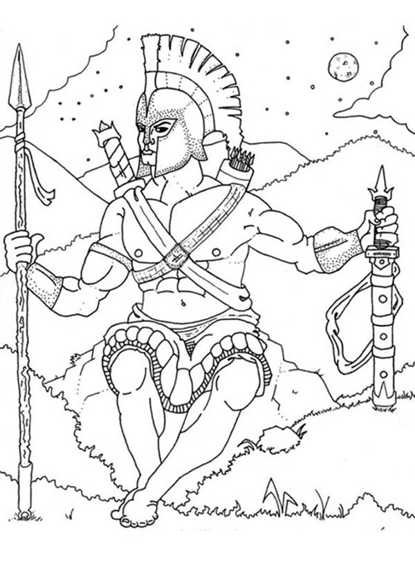 Ares From Greek Gods And Goddesses Coloring Page Netart Greek Gods And Goddesses Coloring Pages Gods And Goddesses