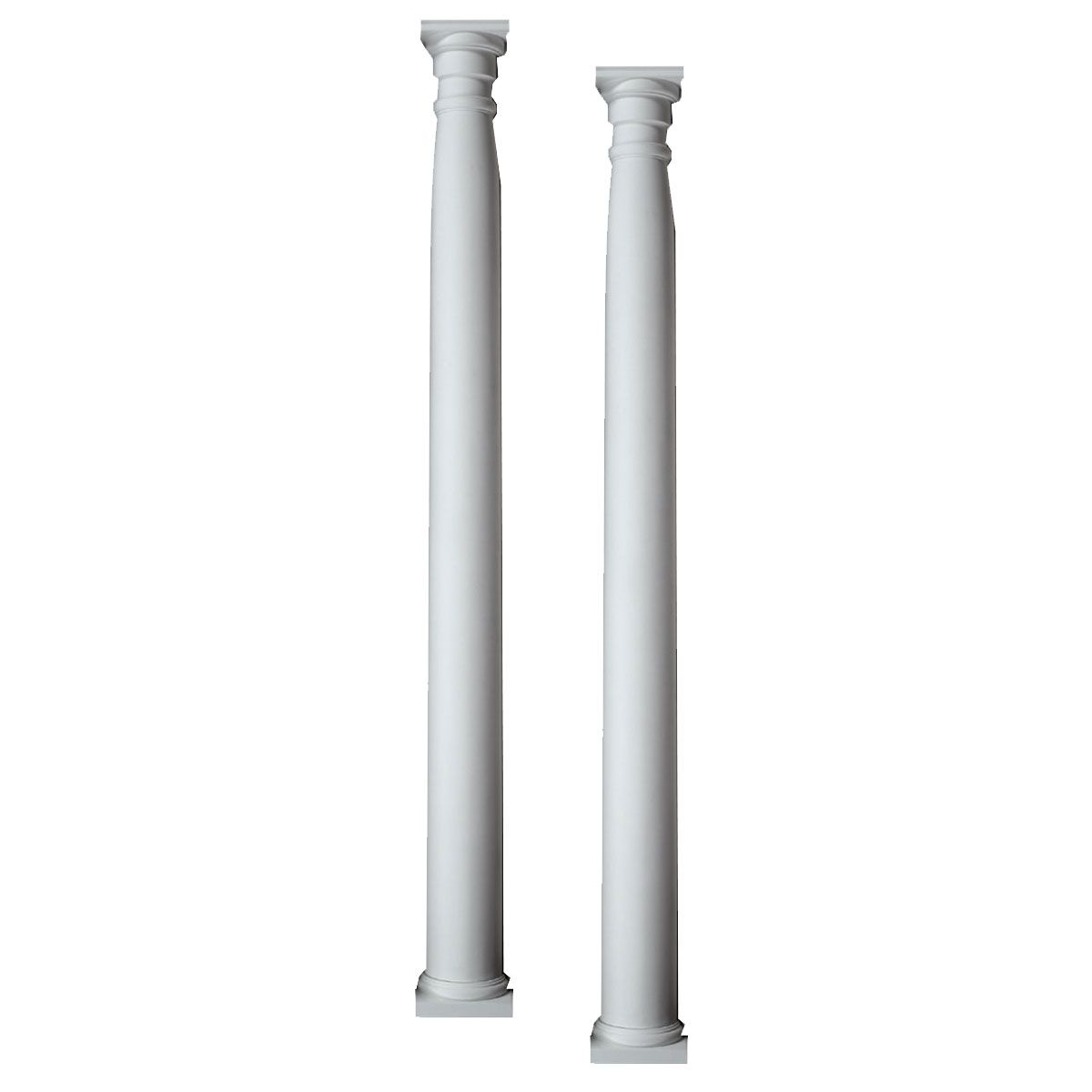 10 3 8 Inch W X 96 Inch H X 6 Inch P Half Round Column Pilaster Adjustable From 80 Inch To 96 Inch Set Of 2 Porch Columns Column Covers Column