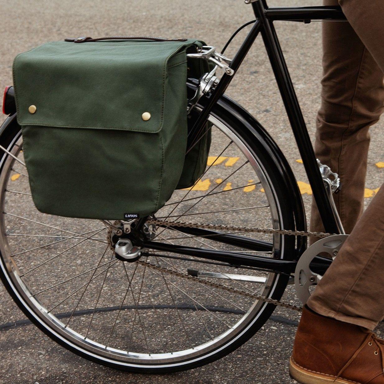Market Bag Pannier Green Linus Bike Bike Bag Pannier Bag Stylish Bicycle