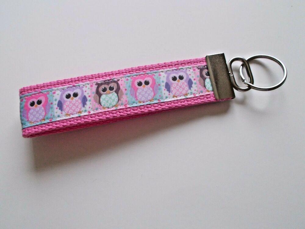 Key Fob Wristlet Wonder Women Pink Ribbon