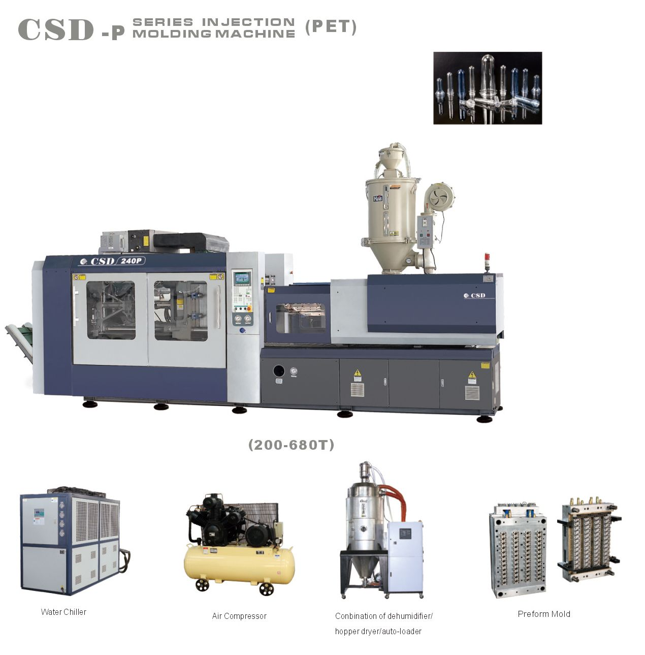 Injection Molding Machine for Pet preform | injection