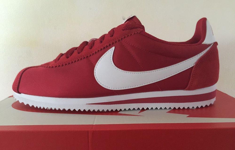 NIKE CLASSIC CORTEZ NYLON GYM RED MEN,S 807472-611 sz...7..UPTO 11..BNIB 77731 #Nike #Trainers