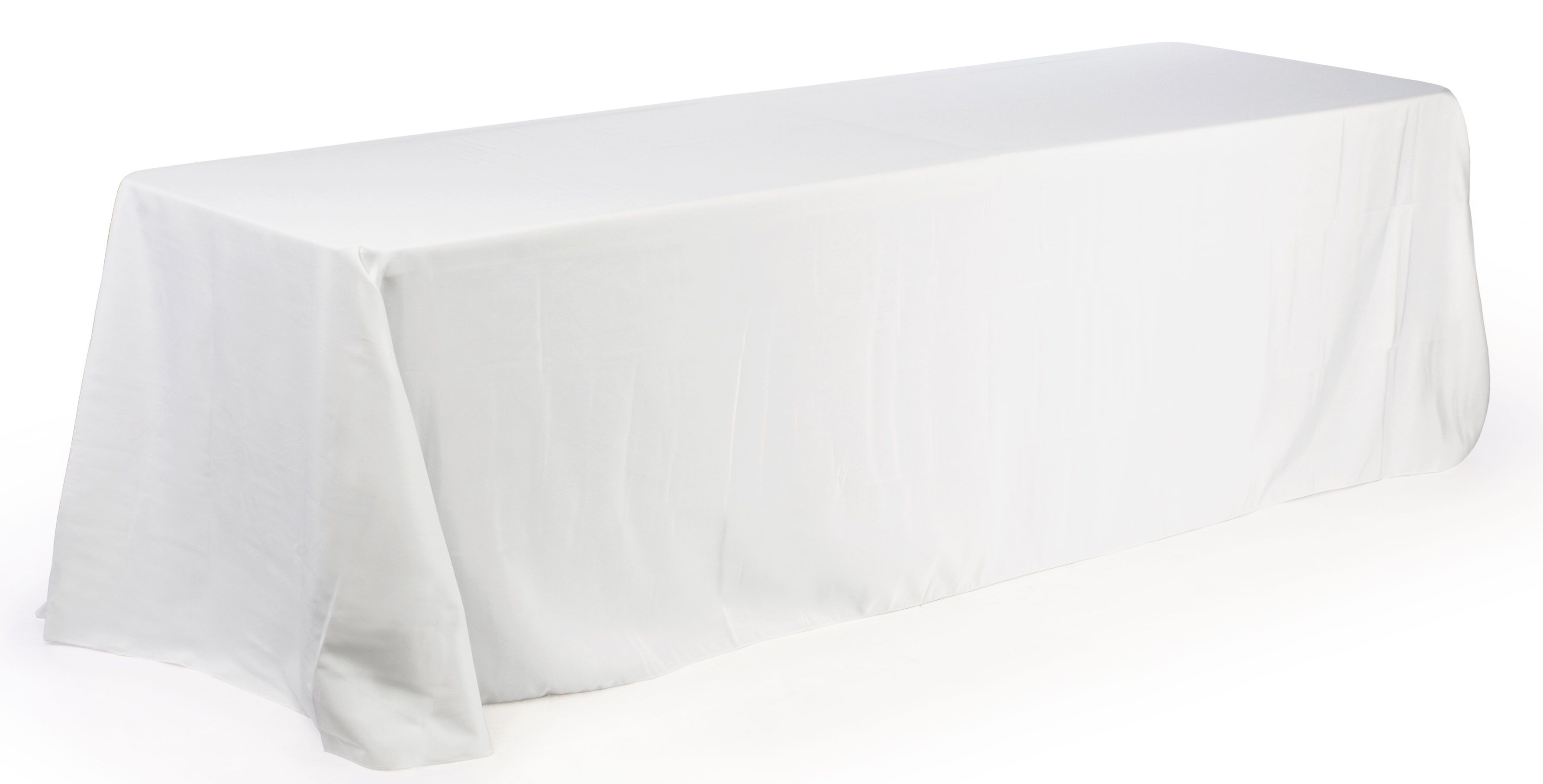 6u0027 Table Cloth, Round Corners   White