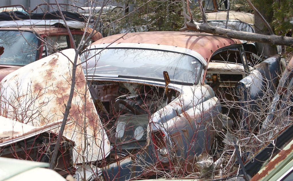 1956 Mercury 4 door hardtop Abandoned cars, Old cars