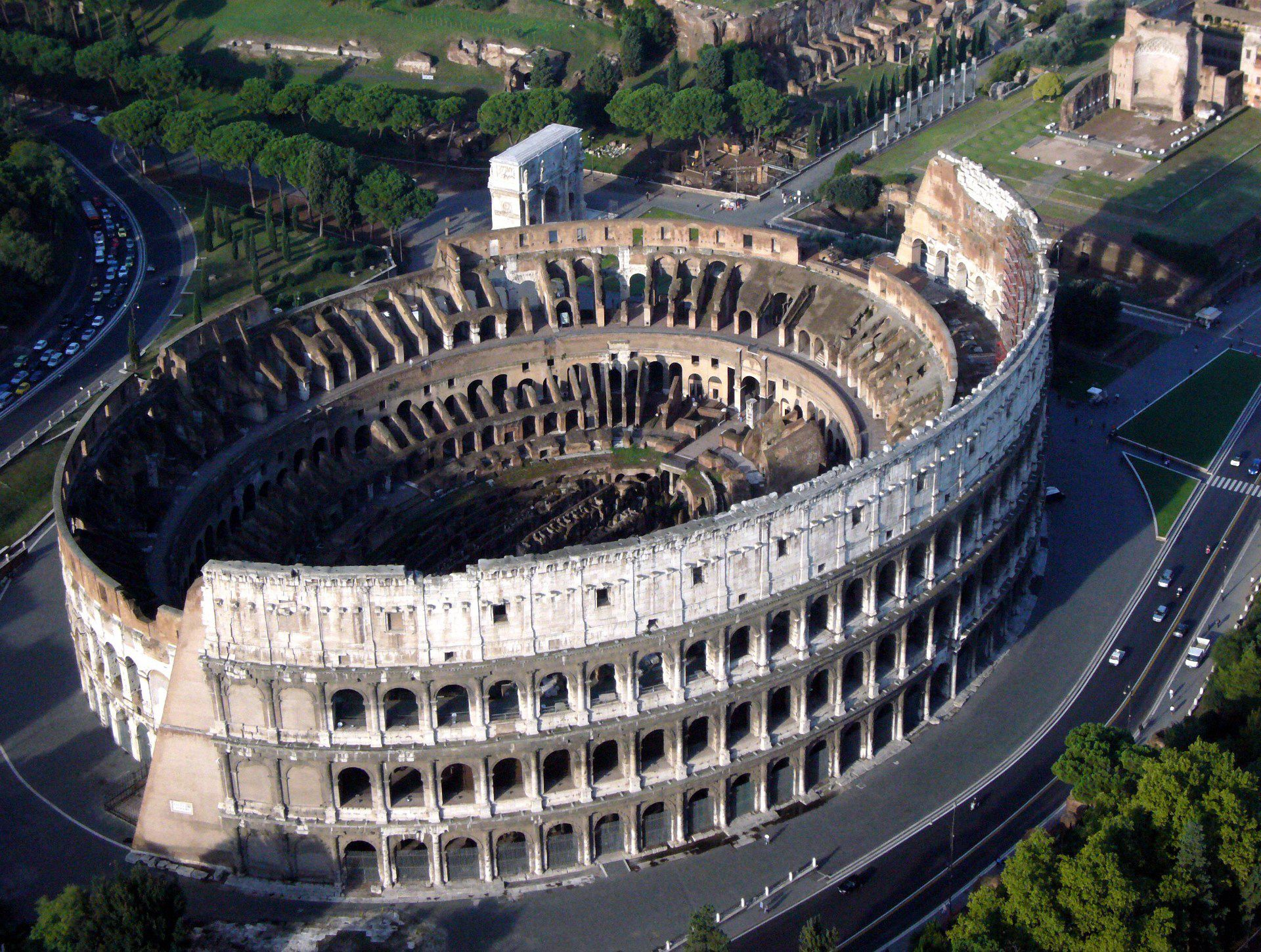 Roman Colosseum From Above Rome Italy Colosseum Rome Wonders