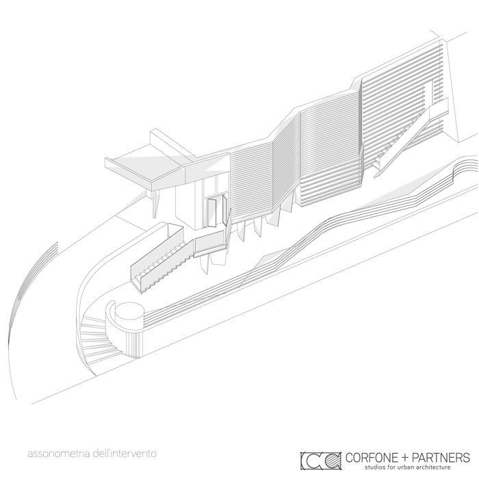 CORFONE+PARTNERS -  Axonometric view- CASA DELLA MUSICA