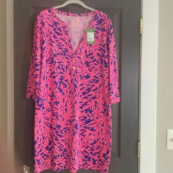 Lilly Pulitzer Alessia Dress NWT dress Did You Catch That.  Size is XL.⚡️Price Firm⚡️ Lilly Pulitzer Dresses