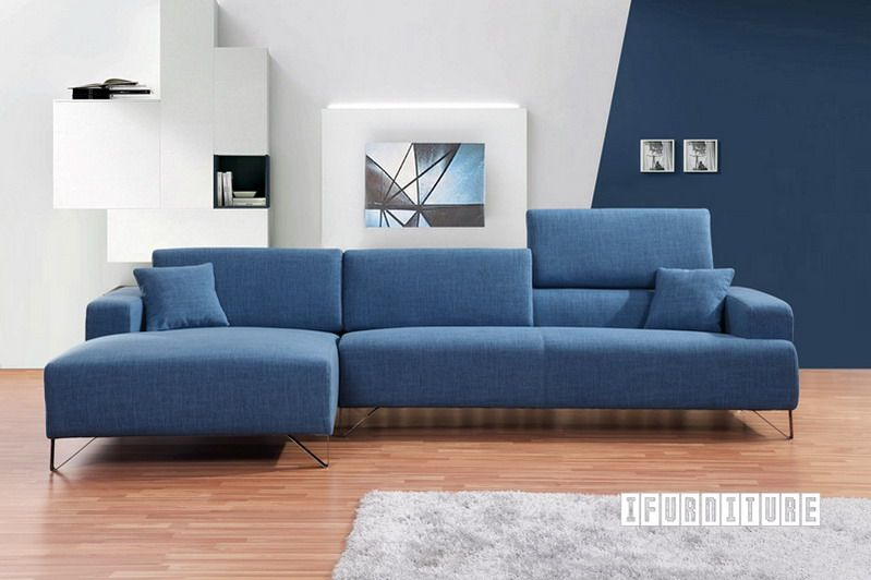 Smartville Corner Sofa In Blue Color Sofa Amp Ottoman Nz