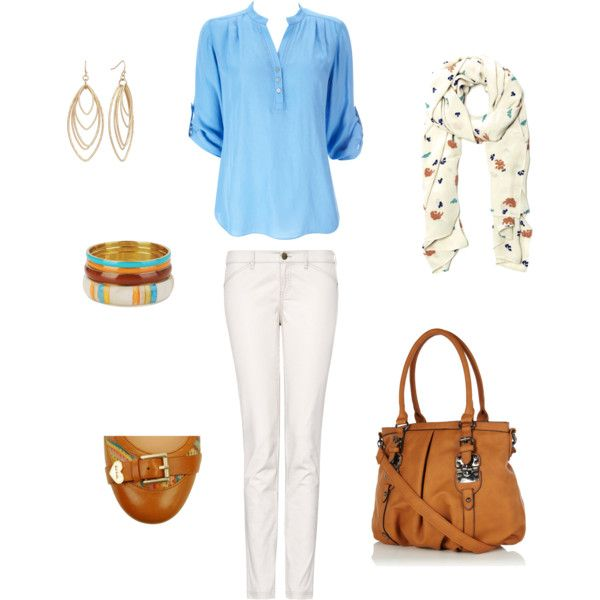 Blue, White & Tan Daywear, created by bellabugdesigns.polyvore.com