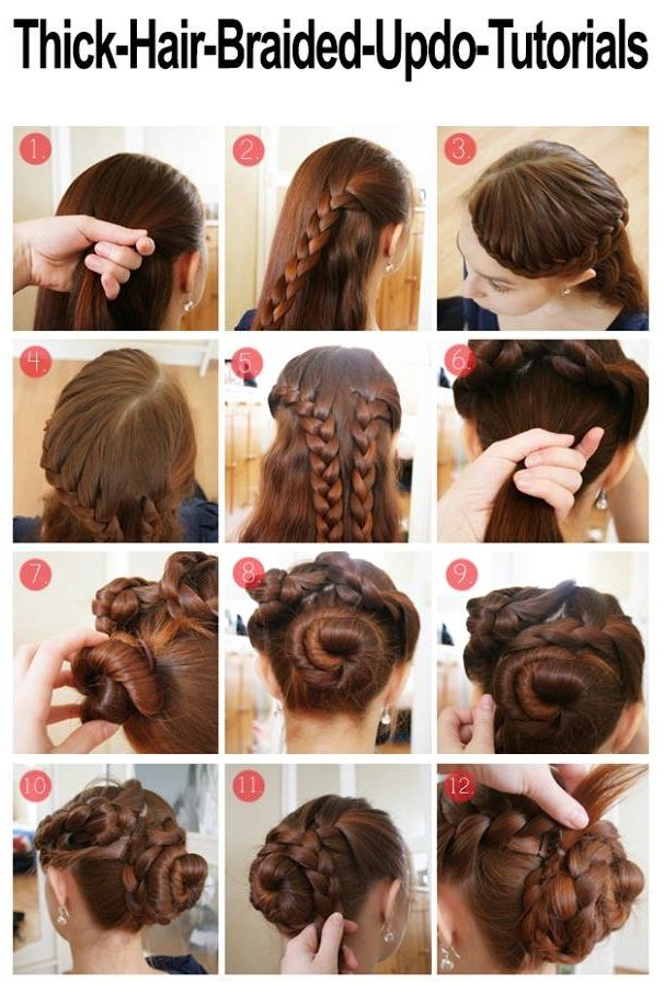 Braided Hairstyle For Thick Hair Alldaychic Long Hair Styles Thick Hair Styles Braided Hairstyles Updo