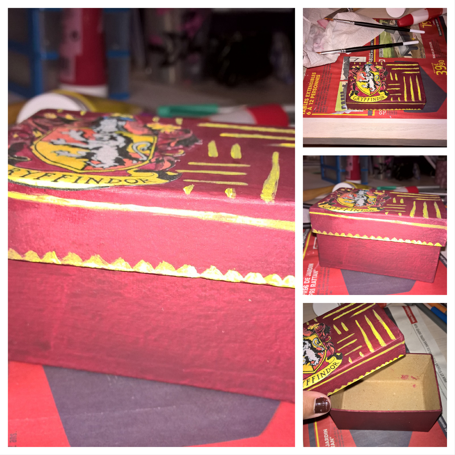 #box #gryffondor  #harrypotter #potter #potterhead #potteraddict #potterfan #harrypotterfan