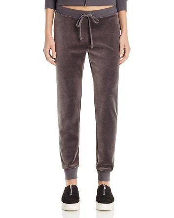 d20c0e4c573 Juicy Couture Black Label Zuma Velour Jogger Pants in Top Hat Grey - 100%…