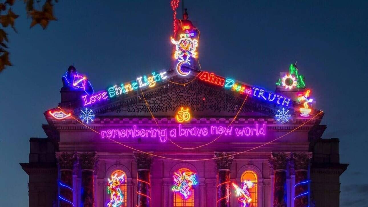 Photo of Remembering a Brave New World: Η πρόσοψη της Tate Modern δίνει ένα μήνυμα αισιοδοξίας