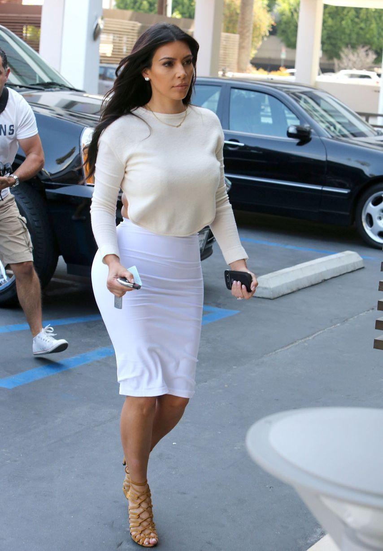 0d6f4ca7d1b Kim Kardashian in Tight White Dress – Filming for KUWTK – June 2014 ...