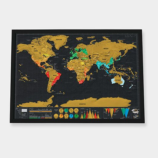 Scratch world map small gift ideas pinterest explore world maps gift ideas and more gumiabroncs Image collections