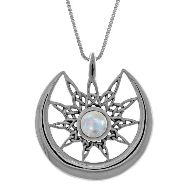 Carolina Glamour Collection Sterl Silver Celtic Star Sun