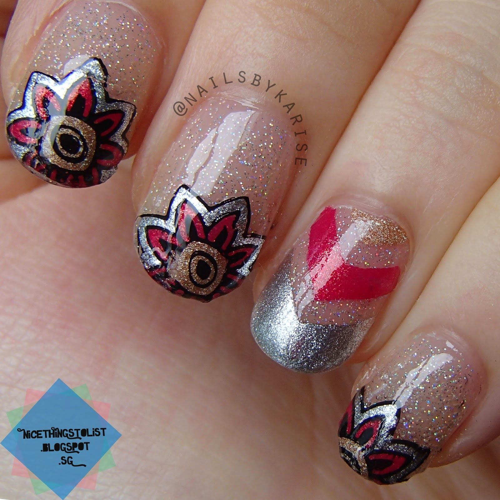 Happy Chinese New Year everyone! Here is my nails for this occasion :) I used bornprettystore stamping plate Qgirl-027 and did this look with reverse stamping. Read my tutorial and how to achieve this look here: http://nicethingstolist.blogspot.sg/2015/02/happy-cny-reverse-stamping-qgirl-027.html