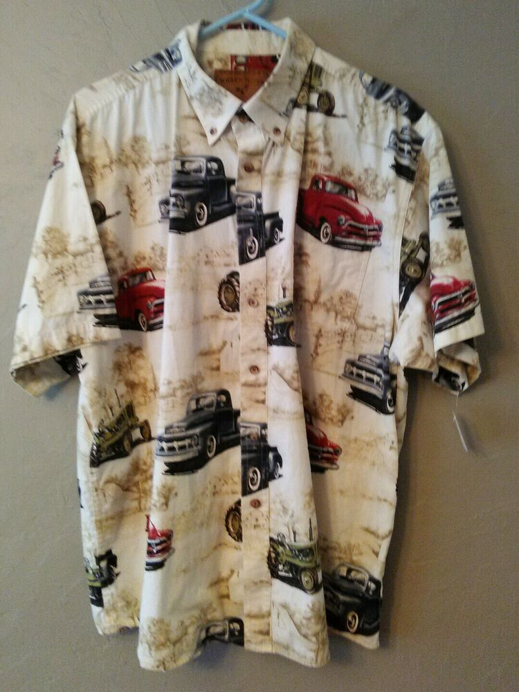 North River Outfitters Mens Old Classic Trucks Hawaiian Camp Shirt Size Xl Fashion Clothing Shoes Accessories Me Shirts Vintage Hawaiian Shirts Shirt Size