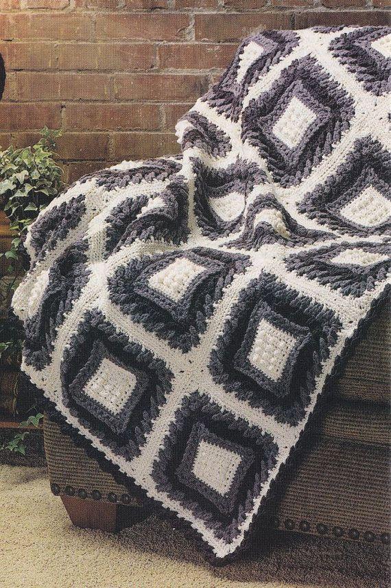Plum Pudding Afghan Crochet Pattern #crochet #afghan | Crochet ...