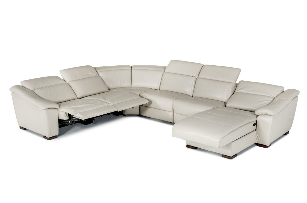 Modern Light Grey Bonded Leather Sofa Vg100 Leather Sectionals