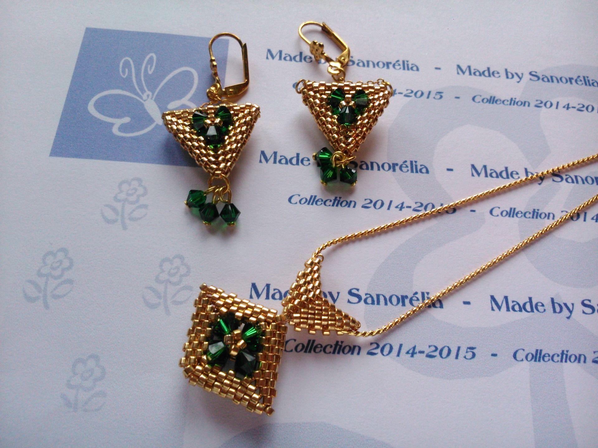 Boucle d'oreille perle 3d
