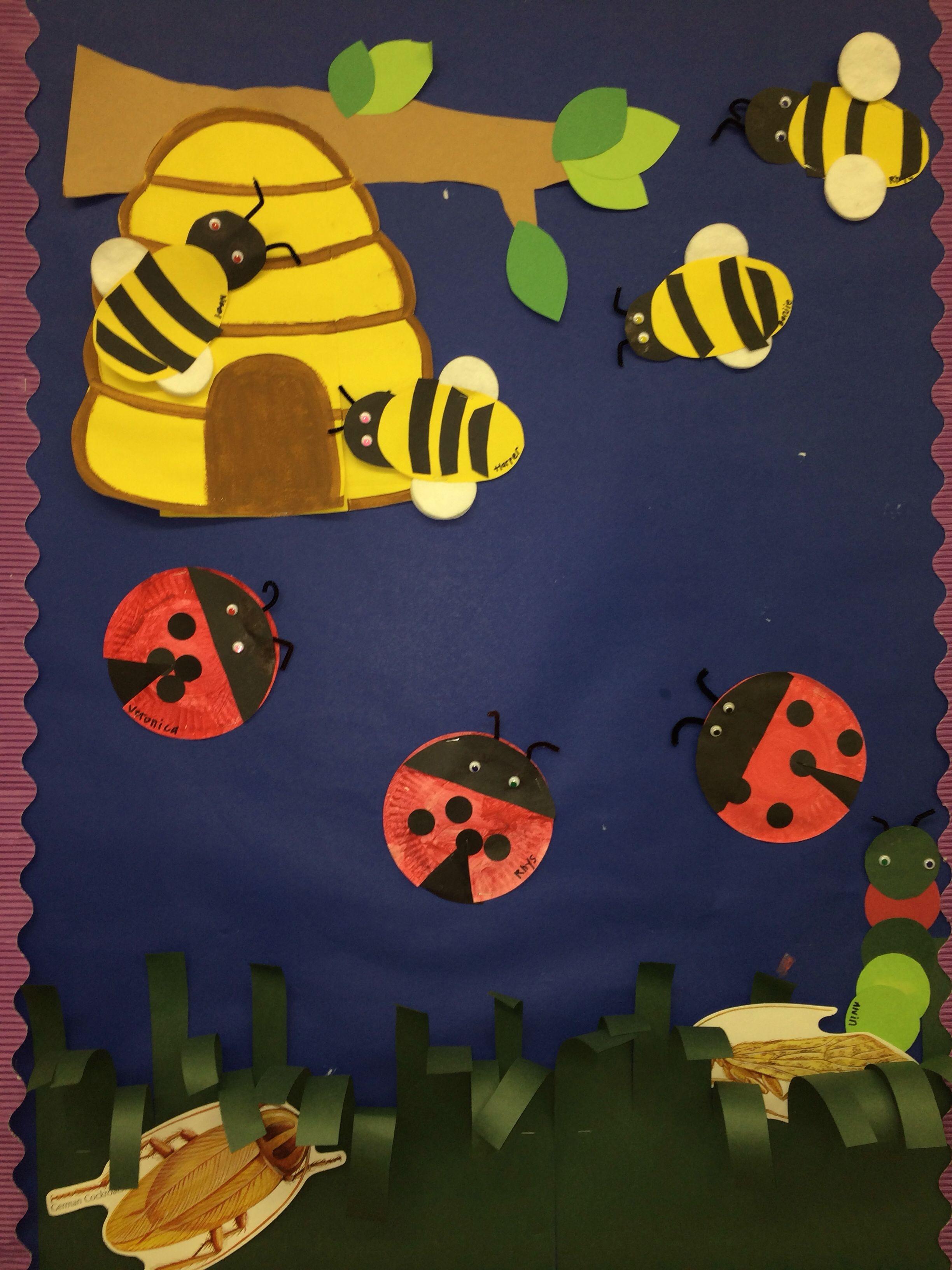 Insects Bumble Bees Caterpillars Ladybugs With Beehive Kids Calendar Preschool Bulletin Preschool Bulletin Boards [ 3264 x 2448 Pixel ]