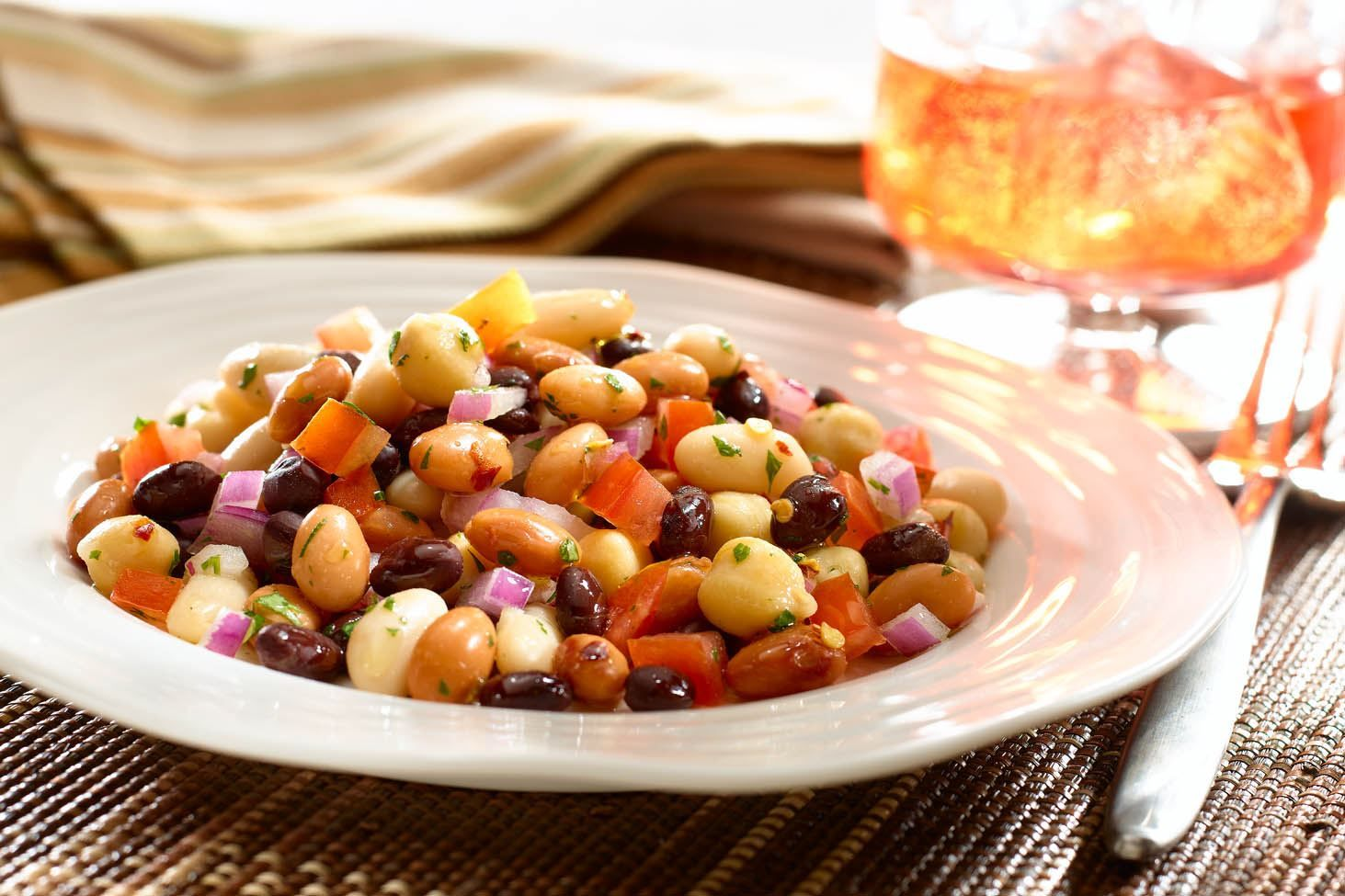 Tangy Four Bean Salad Recipe Four bean salad, Three
