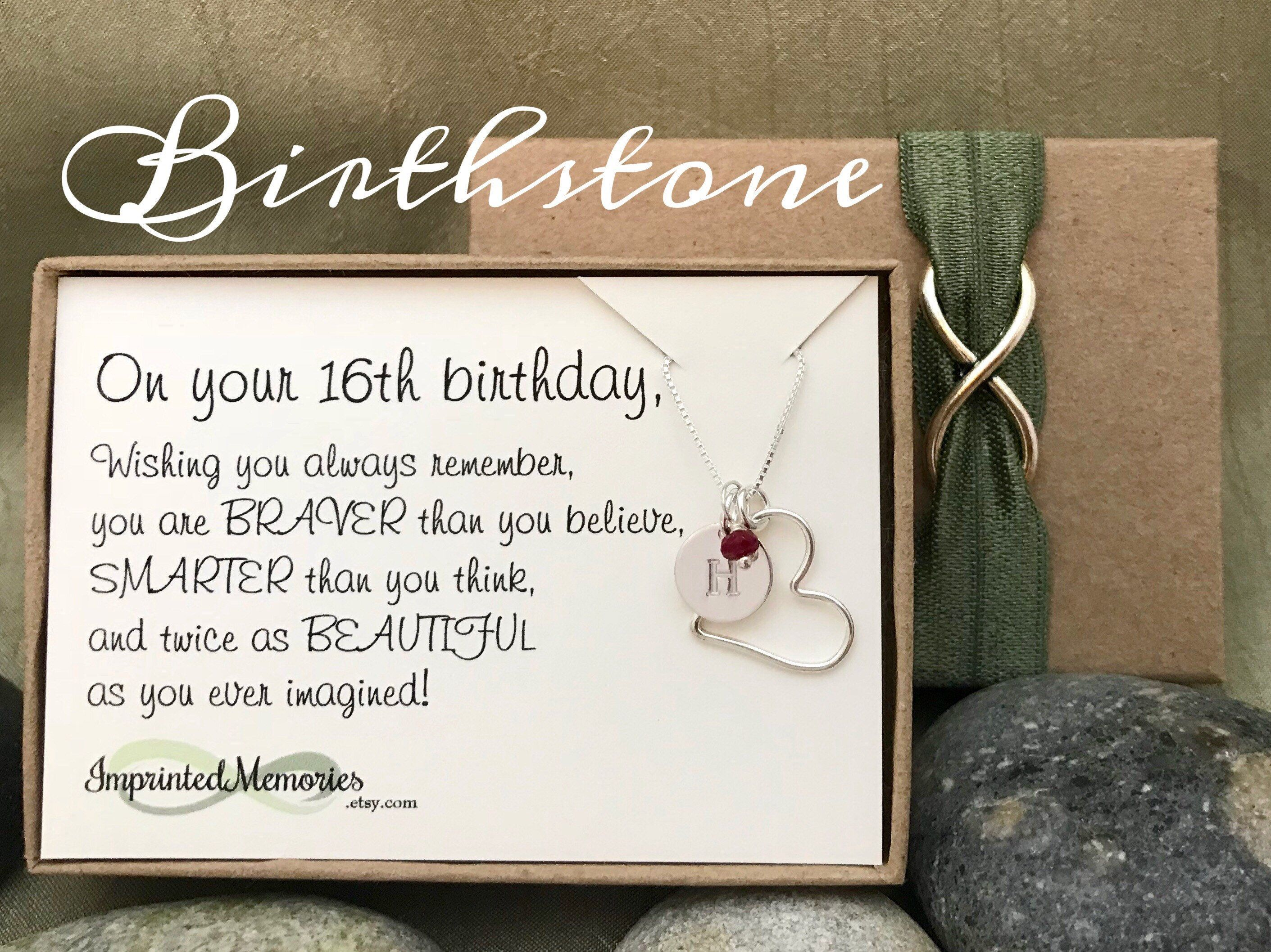 16th Birthday Gift For Her Sweet 16 Girl Sixteen Daughter Niece