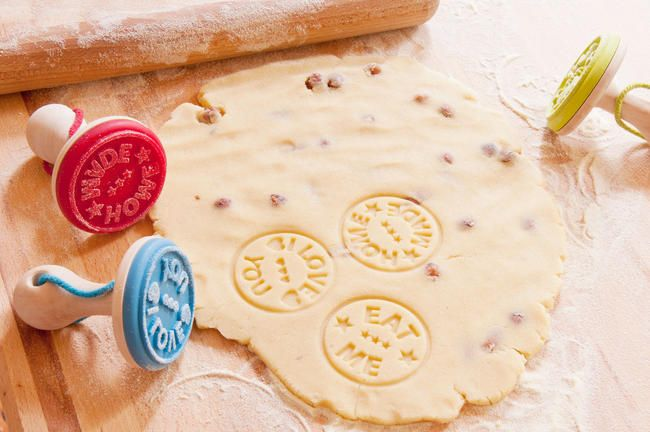 Cookie Stamps Stamper Decoration Silicone Baking Cake Kitchen Suck UK NEW /& TAG