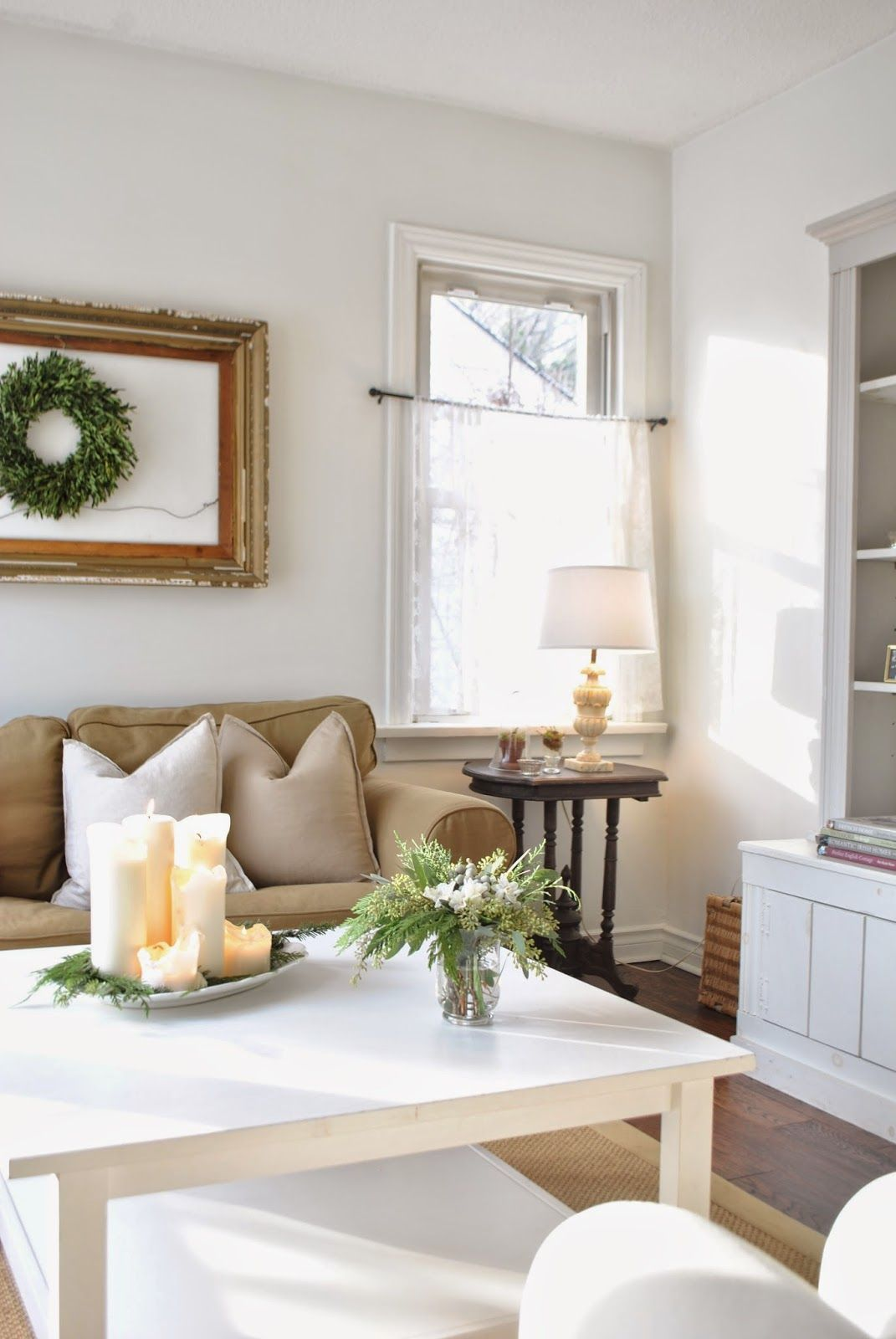 Neutral Christmas Living Room - The Grower\'s Daughter | Christmas ...