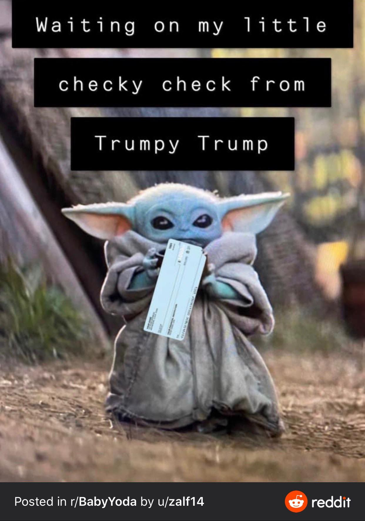 Waiting On My Little Checky Check Too Yoda Funny Yoda Meme Yoda Pictures