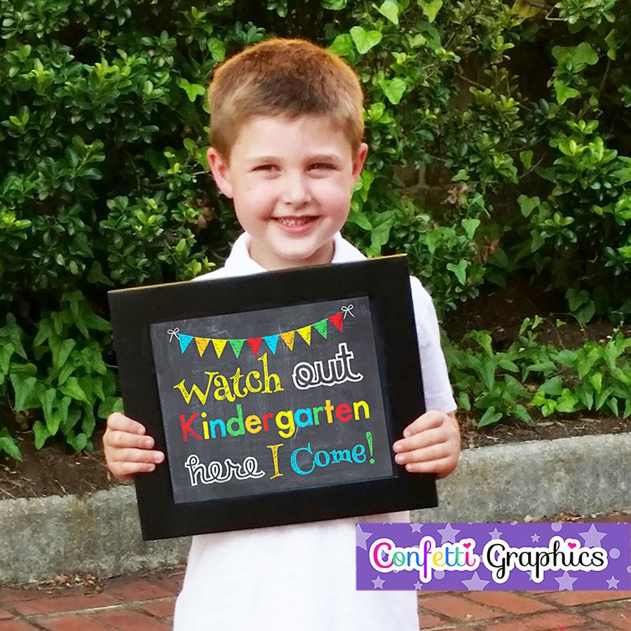 ... Preschool Graduation Grad Chalkboard Chalk Photo Prop Sign. zoom