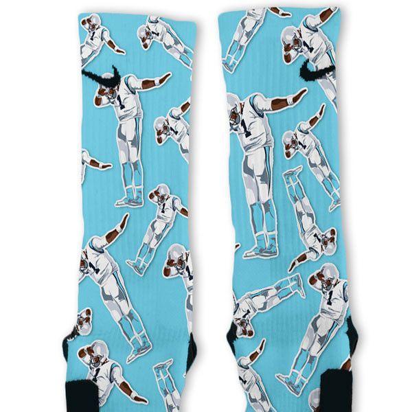 Cam Newton Dab White Custom Nike Elite Socks - Steph Curry Dab Custom Nike Elite Socks – Fresh Elites Custom
